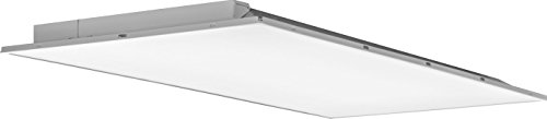 Lithonia Lighting 2ALT4 5000LM MVOLT DIM 2-Foot By 4-Foot Fully Luminous LED Lay-In Troffer Light with Smooth White Lens, White ()