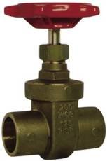 """Red-White Valve 1RW207AB Lead Free Commercial Gate Valve Solder, 1"""" by Standard Plumbing Supply"""
