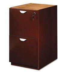 Mira Series File/File Desk Pedestal, 15w x 28d x 27¾h, Medium Cherry