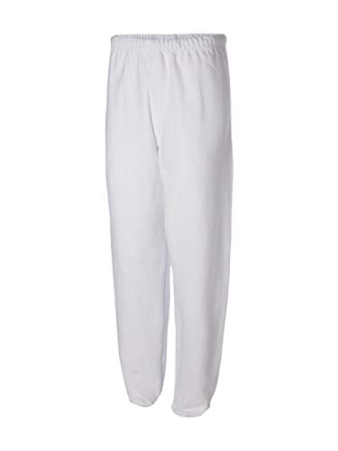 (Jerzees 8 oz Sweatpant (973M) No Pockets Available in 10 Colors - White 973M)