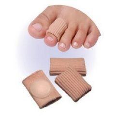 Elastic Tube Strip with Gel Pads Digital, Corn Pads on a 9-inch Strip, 4 pads (3 sizes) (Medium) Body And Base