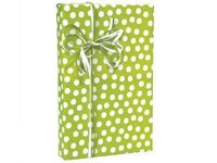 CITRUS Lime Green & White Polka Dot Gift Wrap Wrapping Paper 16 Foot Roll