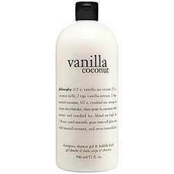 Philosophy Vanilla Coconut Shampoo, Shower Gel & Bubble Bath, 946ml/32oz