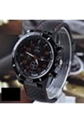 Color Red 2014 New Quartz Business Mens Watches Watches Military Men Corium Leather Strap Sports Mens Watches