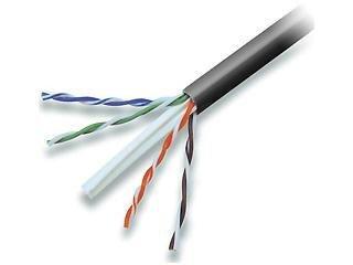 Belkin CAT6 Solid Bulk Cable, Plenum (Black)