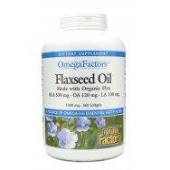 Natural Factors Flaxseed Oil Organic 1000mg Softgels, 360-Count