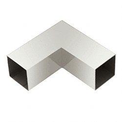 Degree 90 Horizontal Corner - Polished Stainless 90 Degree Horizontal Corner for 1-1/2