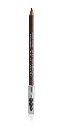 Accent Eyebrow - Marcelle Accent Eyebrow Crayon, Brun Tendre, Hypoallergenic and Fragrance-Free, 0.03 oz