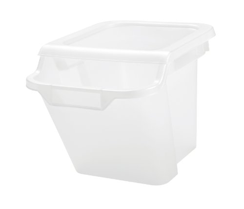 IRIS 18 Quart Recycle Storage Bin, 6 Pack, Clear (Storage Recycle)