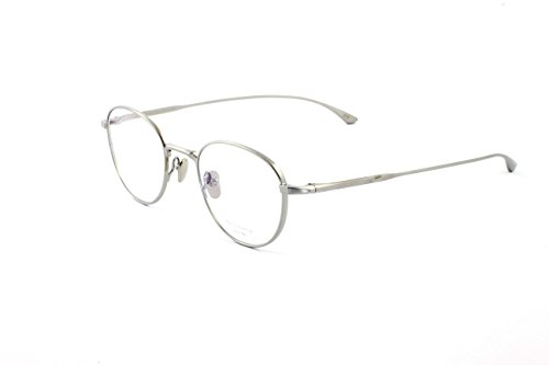 Masunaga Unisex Designer Eyeglasses, Radio City 12 Silver, Size - Masunaga Eyewear