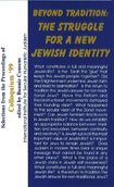 Beyond Tradition: The Struggle for a New Jewish Identity