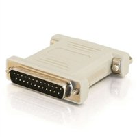 C2G DB25 Male to DB25 Female Null Modem Adapter