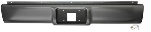 Rear Steel Roll Pan - IPCW CWRS-88CK Chevrolet Pickup Steel Fleetside Roll Pan with License Plate Hole and Light