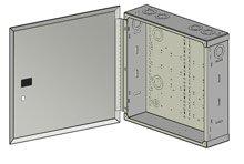 Benner-Nawman 14144-MMH Structured Wiring Cabinets, 14-1/4-Inch X 14-Inch X 4-Inch, -