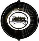 (Stainless Steel Train - 12 Inch Wind Spinner - Black )