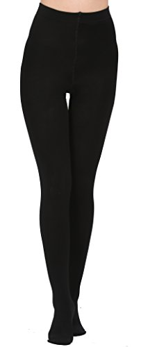Aphro Women's Opaque Warm Tights Fleece Lining Pantyhose, Large - Black by Aphro (Image #3)