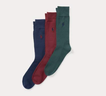 - MENS POLO RALPH LAUREN Supersoft Trouser Sock 3-Pack