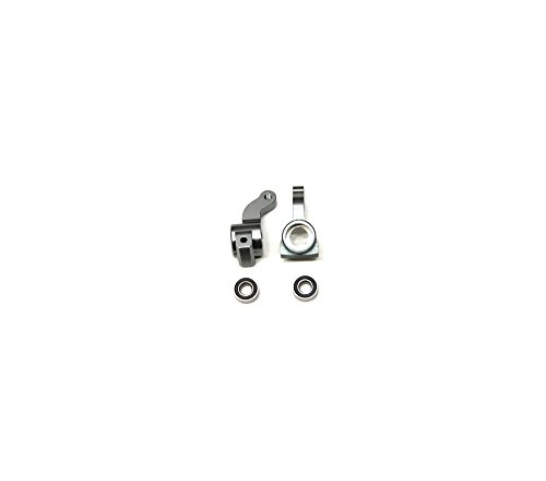 ST Racing Concepts STR310002FGM CNC Machined Aluminum Front Steering Knuckle with Larger 5X11mm Outer Bearing, Gunmetal (Pair)