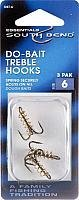 Strong and extra sharp hooks. Attached spring securely holds onto soft baits or dough baits. Available in bronze finish.