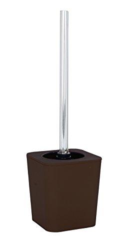 WENKO 19949100 WC-Garnitur Rainbow Brown - Soft Touch, Kunststoff - Polystyrol, 11.5 x 39 x 11.5 cm, Braun