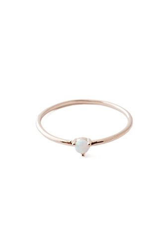 - HONEYCAT Opal Orb Crystal in 18k Rose Gold Plate | Minimalist, Delicate Jewelry (Rose Gold 6)