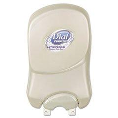 Dial Professional Duo Manual Soap Dispenser, 7 1/4 x 3 7/8 x 11 3/4, 1250 mL, Pearl, 3/Carton by Dial