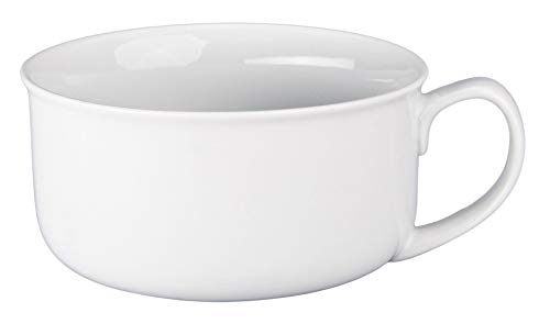 BIA Cordon Bleu Oversized Jumbo White Soup Bowl with Handle, 20 Ounce (Oz With Handle Soup Mugs 20)
