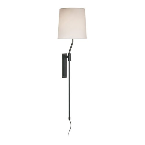 SONNEMAN Palo Black Brass Adjustable Plug-In Wall Lamp