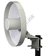 L-Com Global Connectivity - HG2414D - 2.4 GHz 14 dBi Backfire Dish Antenna - N-Female Connector by L-Com Global Connectivity