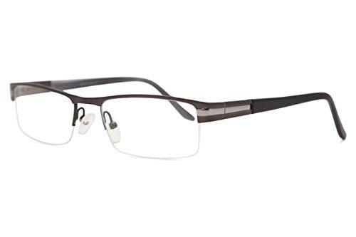 SmartBuy Collection Cruz Unisex Prescription Eyeglass Frames - Semi Rimles Rectangle Designer Glasses Frame - Cruz ()