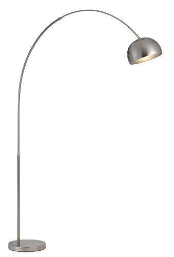85 in. Metal Floor Lamp in Brushed Steel (Floor Lamps Online)