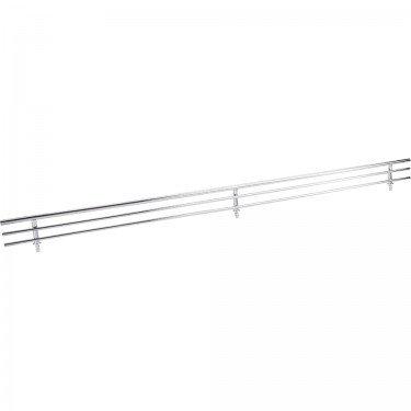Hardware Resources SF23-PC Wire Shoe Shelf Fence, Polished Chrome