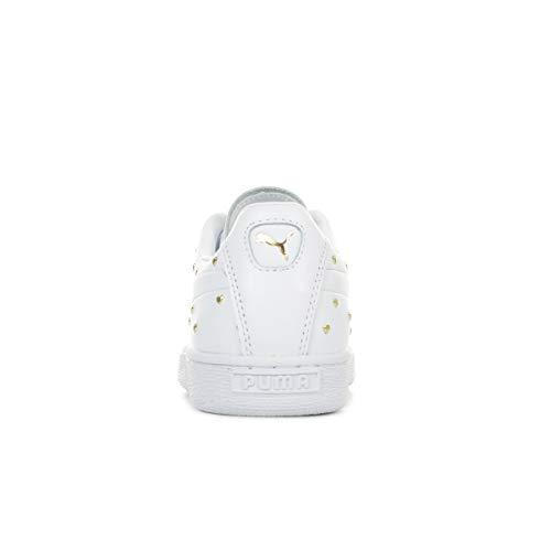 puma Wn's Zapatillas White Puma puma Para Studs Team Gold Mujer Blanco Basket pwwq6f0