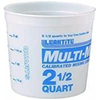 Leaktite #5M3-50 2-1/2QT Mix Container by LEAKTITE