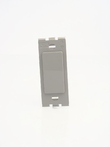(Leviton 80314-GY 1-Gang Decora Plastic Adapter Blank - No hole, Gray )