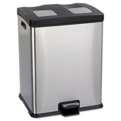 rightsize recycling station rectangular 15 gal