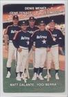 Denis Menke; Gene Tenace; Les Moss; Matt Galante; Yogi Berra (Baseball Card) 1987 Mother's Cookies Houston Astros - Stadium Giveaway [Base] #27