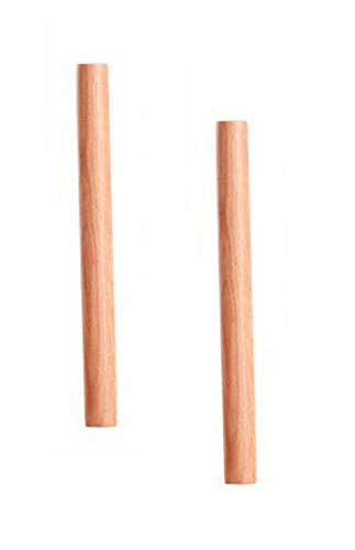 VNDEFUL 2PCS Solid Wood Rolling Pin Kitchen Baking Tool and Dough Stick Hand Rolling Pin Dumpling Wrappers