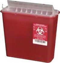 PT# 141020 Container Sharps Disposal System Red 5qt 20/Ca by, Plasti-Products Inc by The Plasti-Products Incorporated