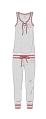 U.S. Polo Assn. Womens Top and Pajama Pants Lounge Sleepwear Set Heather Grey Medium ()