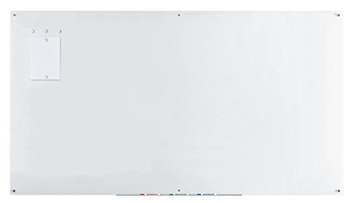 Audio-Visual Direct Magnetic Ultra White Glass Dry-Erase Board Set - 48 x 96 Inches -