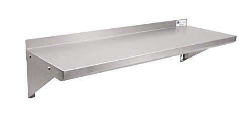 """John Boos EWS8-1248 Stainless Steel Standard Wall Shelf, 48"""" Length, 12"""" Width"""