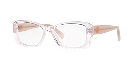 Versace Pink Lens - Versace VE3228 Eyeglass Frames 5189-52 - 52mm Lens Diameter Transparent Pink VE3228-5189-52