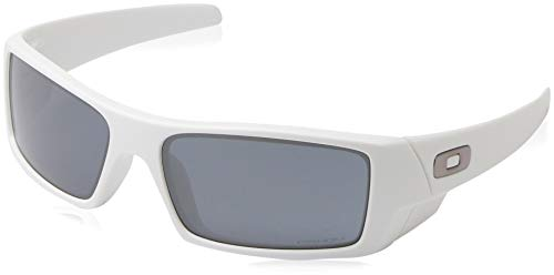 Oakley Men's Gascan Rectangular Sunglasses, Matte White, 60 ()