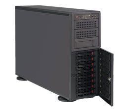 Supermicro SYS-7048R-TR SuperServer Dual LGA2011 920W 4U Rackmount-Tower Server Barebone System, Black