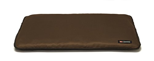 Big Shrimpy Landing Pad Faux Suede Crate Mat For Dogs & Cats, Small, Walnut