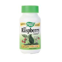 Natures Way Red Raspberry Leaf Capsule, 480 Milligram - 100 per Pack - 6 Packs per case. by Nature's Way