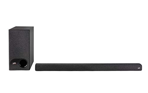 Polk Audio Signa S3 Ultra-Slim TV Sound Bar and Wireless Subwoofer with Built-in Chromecast | Works with 8K, 4K & HD TVs…