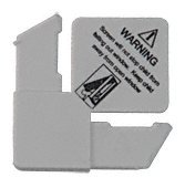 CRL 5/16'' Gray Square Cut With Lift Tab Plastic Screen Frame Corner With Warning - 100 Pack