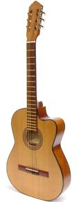 (Paracho Elite Thin Body Classical Guitar-San Benito-With Three Free AAA Musical Picks)